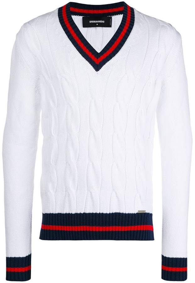 DSQUARED2 stripe-trimmed jumper