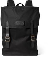 Filson Ranger Leather-Trimmed Twill Backpack