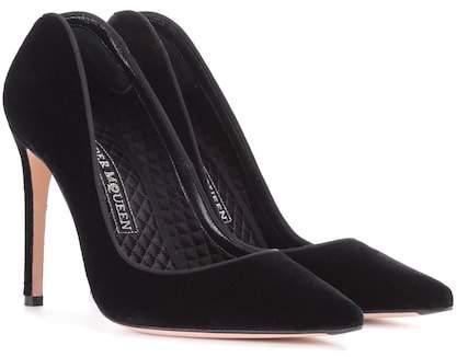 Alexander McQueen Velvet pumps