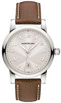 Montblanc 108762 Women's Star Date Alligator Strap Watch, Brown/Silver