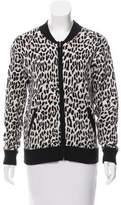 Derek Lam 10 Crosby Leopard Patterned Cardigan