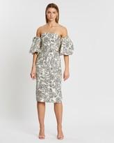 Shona Joy Zella Bustier Belt Midi Dress