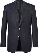 Tom Ford Blue Windsor Basketweave Wool and Mohair-Blend Blazer