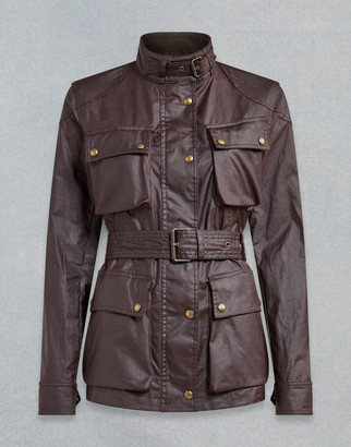 Belstaff TRIALMASTER WAXED JACKET Red UK 8 /