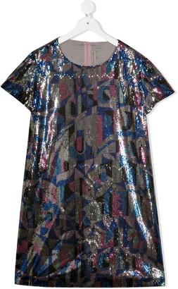 Emilio Pucci Junior TEEN sequinned geometric dress