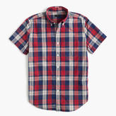 J.Crew Slim short-sleeve lightweight cotton shirt in red plaid