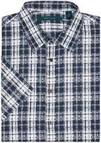 Perry Ellis Big and Tall Short Sleeve Digital Plaid Shirt