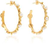 Sylvia Toledano Petite Candy Pearl Hoop Earrings