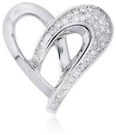 Nina Ricci 18K White Gold Diamond Heart Pendant