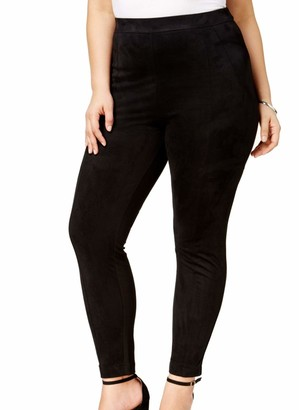 Love Scarlett Women's Plus Size Faux Suede Front Back Ponte Legging