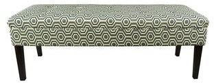 Mjl Furniture Designs Kaya Cott Ashton Linen-button Tufted Upholstered Long Bench