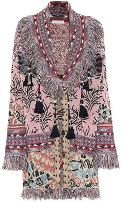 Etro Linen-blend jacquard cardigan