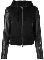 Givenchy hooded jacket - women - Cotton/Lamb Skin/Acetate/Viscose - 36