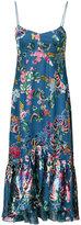 Saloni floral midi dress - women - Silk/Polyester/Rayon - 0