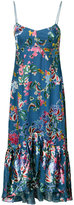 Saloni floral midi dress - women - Silk/Polyester/Rayon - 2