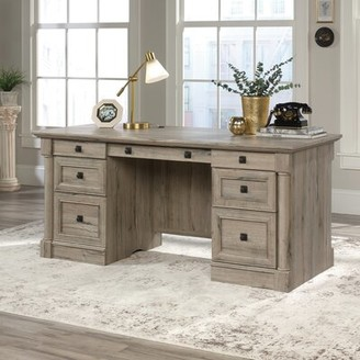 Three Posts Orviston Executive Desk Color: Split Oak