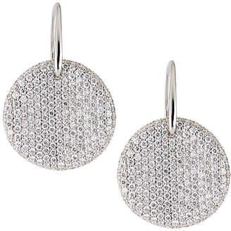 Roberto Coin 18k White Gold Diamond Pave Disc Earrings