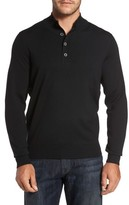 Thomas Dean Men's Merino Wool Blend Mock Neck Sweater