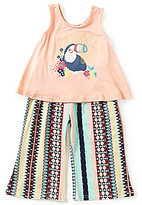 Jessica Simpson Baby Girls 12-24 Months Toucan Tank Top & Mixed-Stripe Palazzo Pants Set