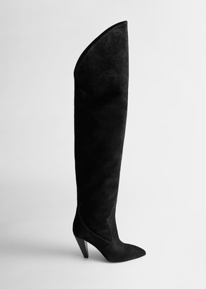 And other stories Suede Thigh High Cowboy Boots