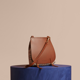 Burberry The Small Bridle in Leather and Haymarket Check