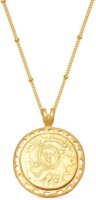 Missoma Lucy Williams Gold Rising Sun Medallion Coin Necklace