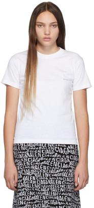 Balenciaga White Mini Logo T-Shirt