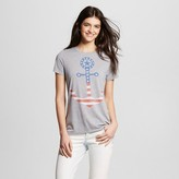 L.O.L. Vintage Women's Americana Anchor Graphic Tee Heather Grey