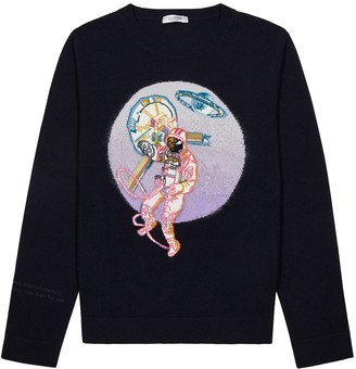 Valentino Spaceland intarsia wool-blend jumper