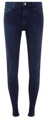 Dorothy Perkins Womens **Tal Blue And Black 'Darcy' Skinny Ankle Grazer Jeans, Blue