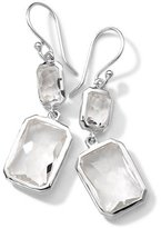 Ippolita Sterling Silver Wonderland Rectangular Mini-Drop Earrings in Clear Quartz