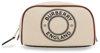 Burberry Small Cotton Canvas Logo Travel Pouch