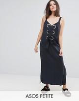 Asos Eyelet Detail Maxi Dress