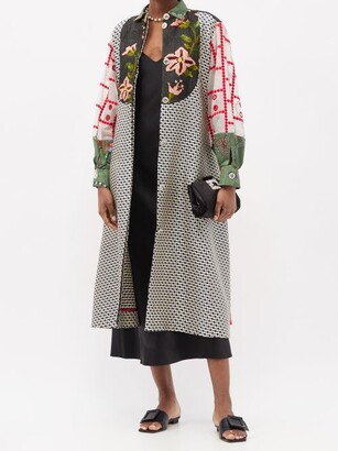 RIANNA + NINA Kendima Patchworked-cotton Coat - Multi