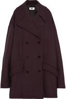 MM6 MAISON MARGIELA Oversized Double-breasted Bonded Jersey Coat