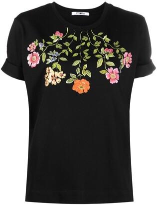 VIVETTA floral-print cotton T-shirt