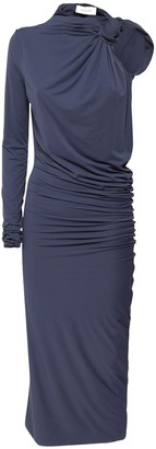 Sportmax Bosco One Shoulder Jersey Midi Dress