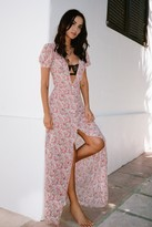Nasty Gal Womens Earth Angel Floral Maxi Dress - Pink - 14, Pink