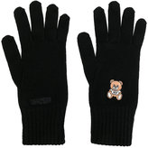 Moschino embroidered teddy gloves