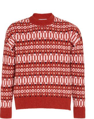 Ami Rustic Patterned Wool Sweater