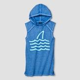 Art Class Boys' Shark and Waves Sleeveless Hooded Tank Top Art Class - Blue