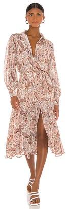 MinkPink Woodstock Paisley Midi Dress