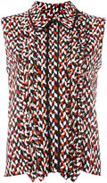 Marni geometric pattern sleeveless blouse - women - Silk - 40