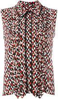 Marni geometric pattern sleeveless blouse - women - Silk - 42