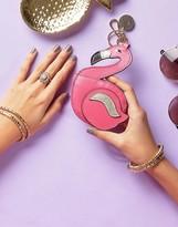 Oasis Flamingo Novelty Keychain Purse