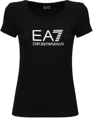 EA7 Emporio Armani Logo Cotton T-shirt