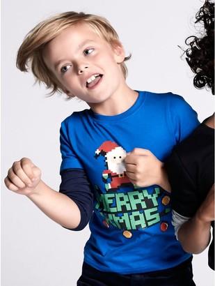 M&Co Gamer Christmas t-shirt (3-12yrs)