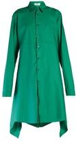 Balenciaga Fold-back cotton-poplin shirtdress