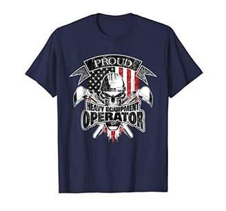 Equipment Heavy Operator American Flag T-Shirt