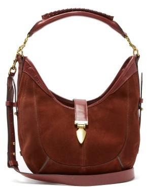 Isabel Marant Kaliko Small Suede Shoulder Bag - Womens - Dark Red